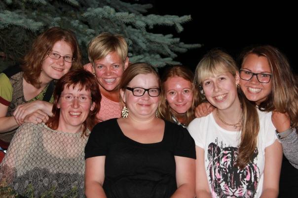 Geraldine, HIlde,Me,Sandra,Annette,Wenche and Gabriella